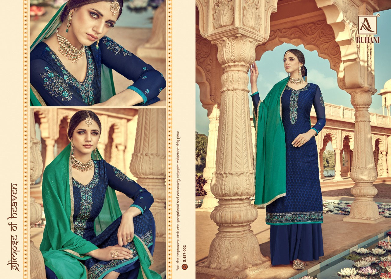 Alok Suit 487-001 - 487-008 Pure Viscose Salwar Suit