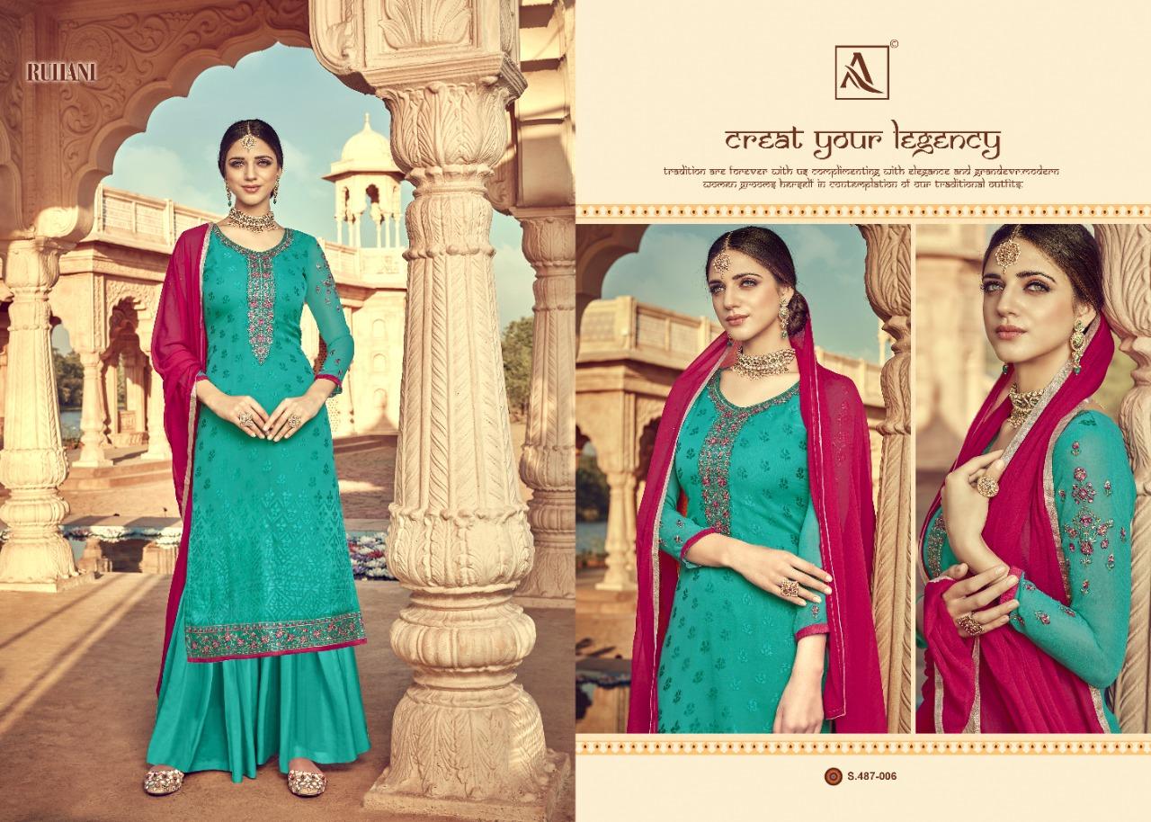 Alok Suit 487-001 - 487-008 Pure Viscose Salwar Suit