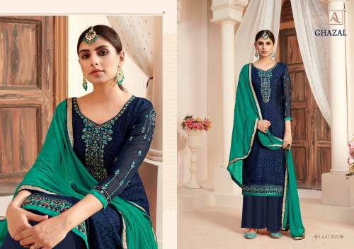 Alok Suit Ghazal 641-001 - 641-008 Pure Viscose Salwar Suit