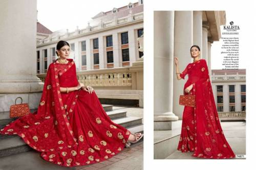 Kalista Gossip 74871-74878 Rangoli Saree