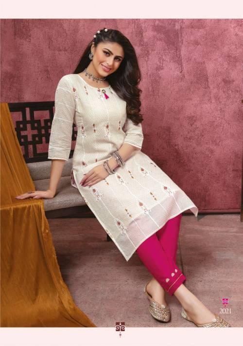 Kiana Bindia Vol -2 201-208 Pure Rayon Cotton Kurta