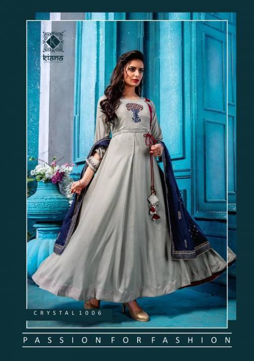 Kiana Of Fashion Crystal 1001-1006 Heavy Rayon Kurti