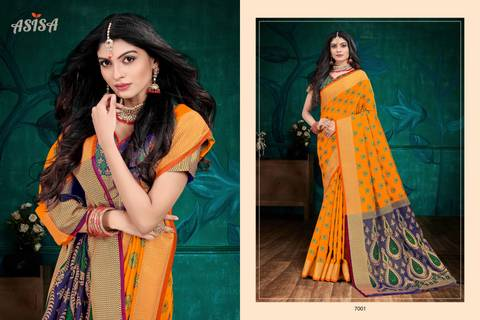 Asisa Campa Silk 7001-7004 Designer Party Wear Saree