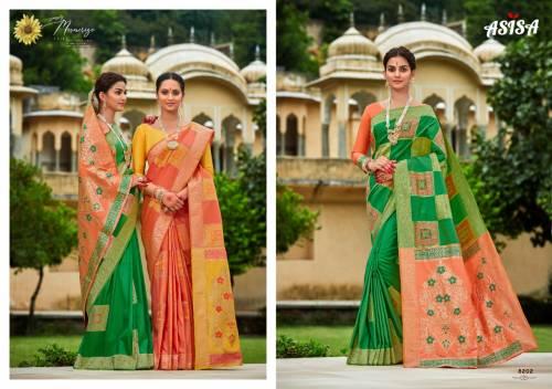 Asisa Charvi 8201-8203 Banarasi Silk Saree