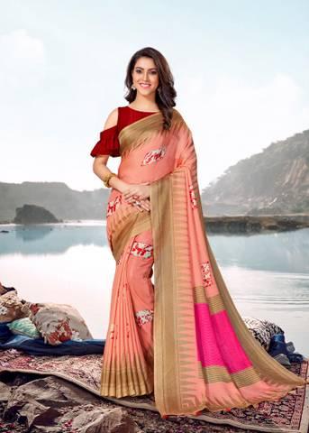 Asisa Jute Silk 6401-6408 Designer Fancy Saree
