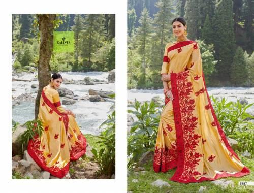 Kalista Fashions Orange 5887-5894 Series Sarees