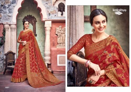 Kakshya Khushboo 9001-9006 Series Linen Zari Saree