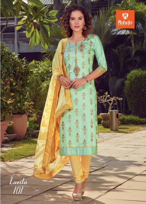 Raheja Laxita 101-106 Straight Churidar Suit