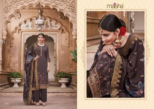 Maisha Maskeen Hoor Vol2 8701-8703 Palazzo Suit