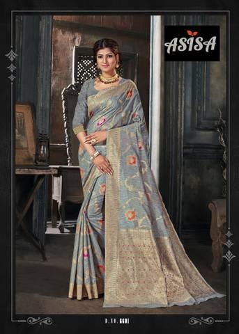Asisa Muga Silk 6601-6606 Muga Silk Designer Saree