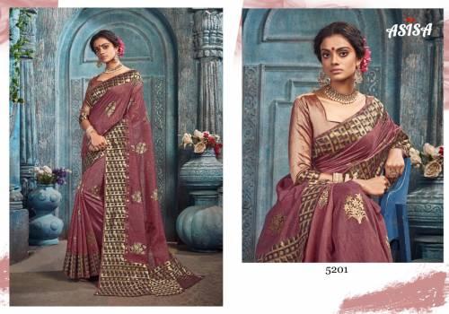Asisa Pankhudhi 5201-5204 Spun Kota Designer Saree