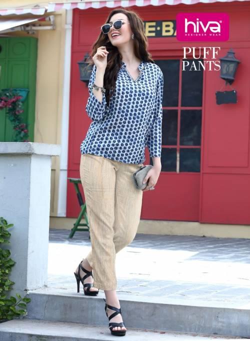 Hiva Puff Pants 001-010 Pure Cotton Slub Puff Pant