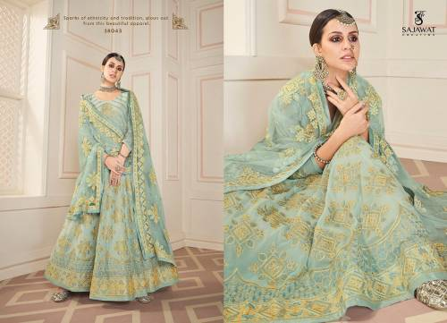 Sajawat Creation Begam Vol5 38041-38044 Semistitched Anarkali