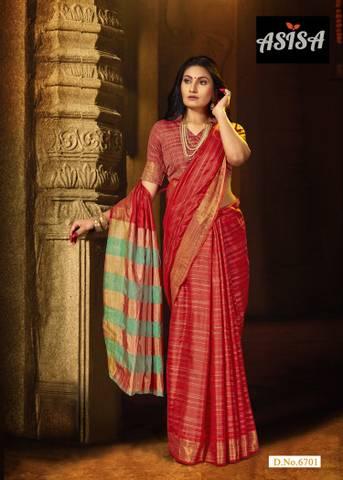 Asisa Shreya 6701-6706 Cotton Silk Designer Party Wear Saree