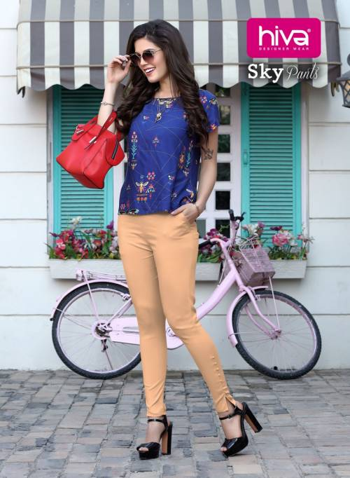 Hiva Sky Pants 001-007 Pure Cotton Stretchable Pant