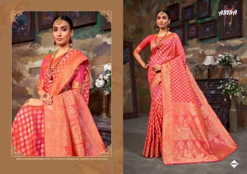 Asisa Tulsi 6101-6106 Banarasi Silk Designer Saree