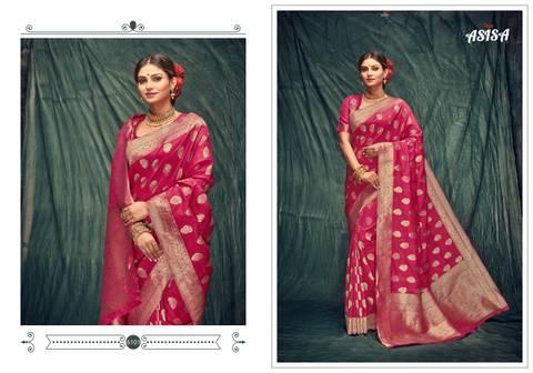 Asisa Tulsi 6101-6105 Banarasi Silk Designer Saree