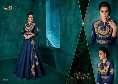 Vardan Designer Rozi Vol1 51011-51018 Series Silk Gown