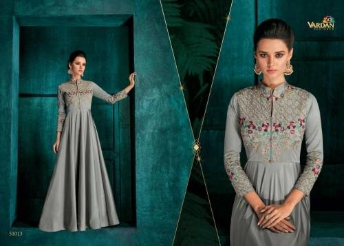Vardan Designer Rozi Vol1 51011-51018 Series Silk Gown