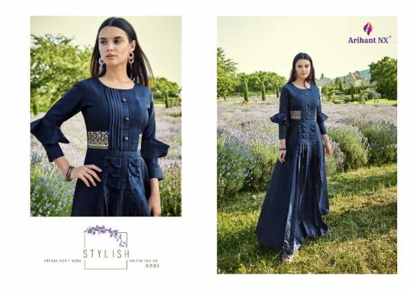 Arihant Designer Vamika Fiza 6001-6008 Long Kurtis