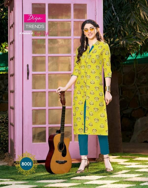 Diya Trendz Gardencity Vol8 8001-8020 Series Kurtis