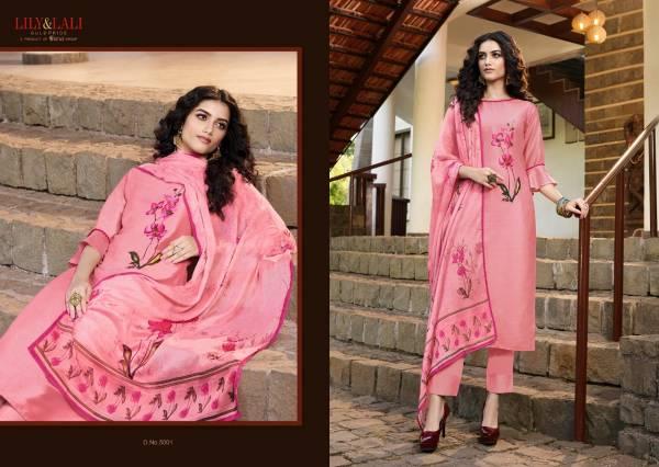 Lily & Lali Fabulous 5001-5006 Soft Silk Readymade Top & Dupatta