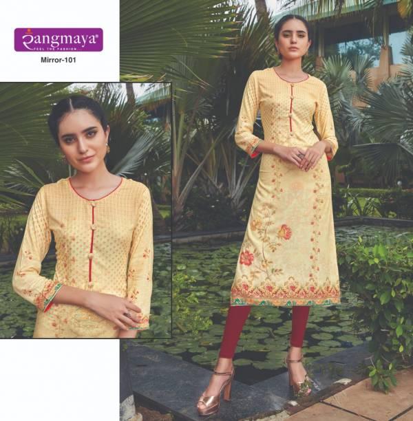 Rangmaya Mirror 101-110 Rayon Digital Print Straight Kurti