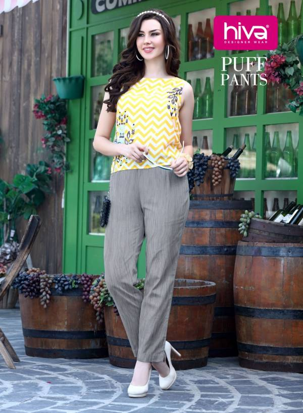 Hiva Puff Pants 001-010 Pure Cotton Slub Puff Pant