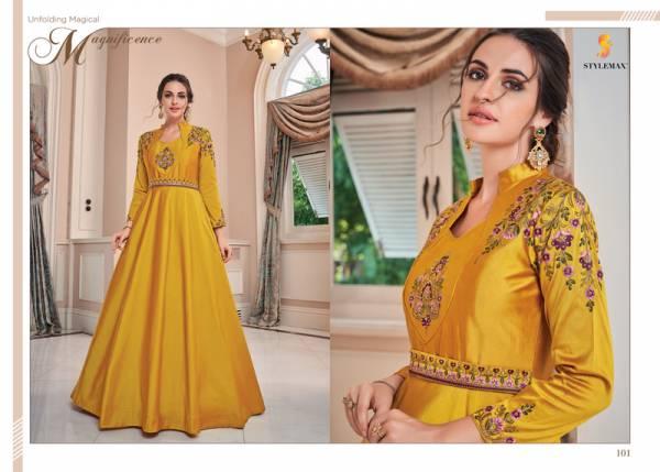 Stylemax Almirah Vol1 101-107 Silk Gown