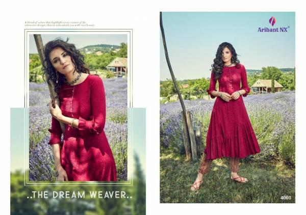 Arihant Designer Vamika Zoella 4001-4008 Pant Style Kurtis